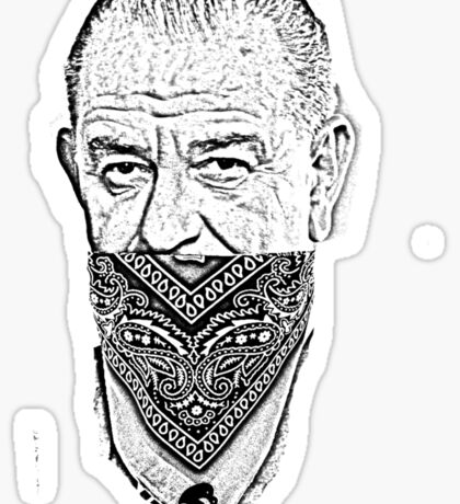 gangster lyndon b johnson Sticker