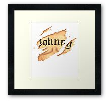 Johnny Cage - Tattoo Framed Print