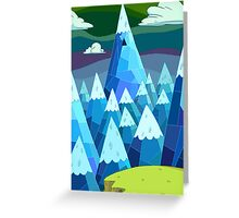 "Adventure Time- ""The Ice Kings Lair"" Greeting Card"