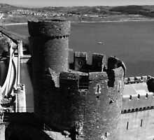 13th Century Conwy Castle Northern Wales by Ian Mooney
