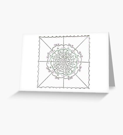 Silver Circle Mandala Greeting Card