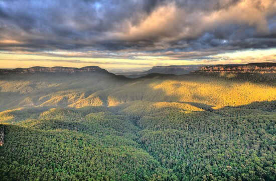 Shadows & Light - Blue Mountains World Heritage Area - The HDR Experience by Philip Johnson