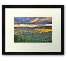 Shadows & Light - Blue Mountains World Heritage Area - The HDR Experience Framed Print
