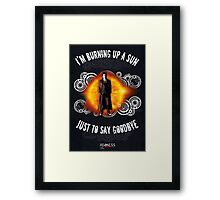 Doctor Who Burning a Sun Framed Print
