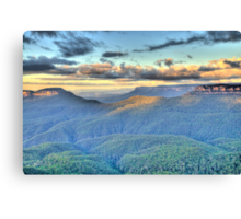 Morning Light - Blue Mountains World Heritage Area - The HDR Experience Canvas Print