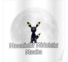 Umbreon's Moonlight Midnight Mocha Poster
