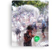 Songkran Thai New Year Canvas Print