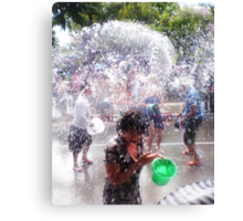Songkran Thai New Year Canvas Print