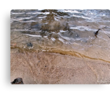 Little Waves Ripples Reflection Patterns Canvas Print