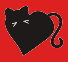 Gato Corazon - Amo los Gatos!! I Heart Cats Kids Clothes