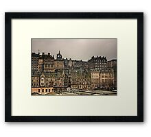 Crowded Old Town Framed Print