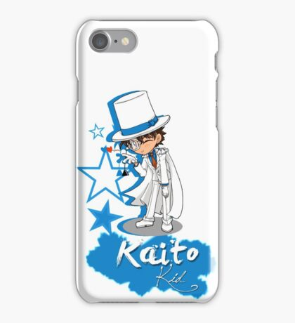Kaito Kid - Don't forget the Poker Face! iPhone Case/Skin