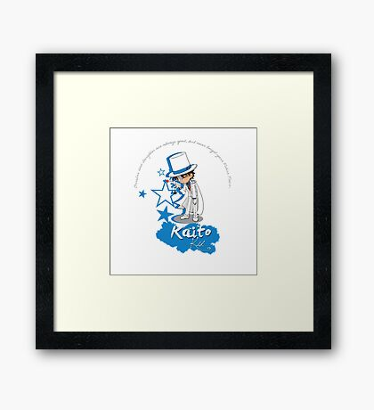 Kaito Kid - Don't forget the Poker Face! Framed Print