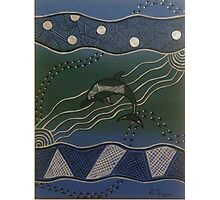 Australian Aboriginal Dolphin Photographic Print