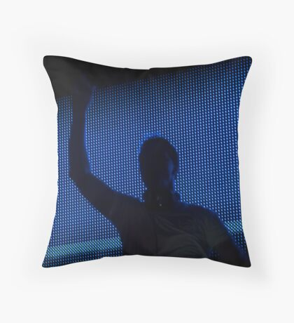 The DJ is in the house Throw Pillow