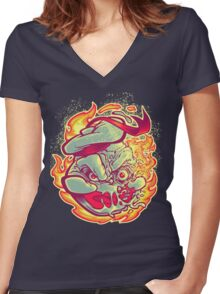 ROASTED MARSHMALLOW MAN Women's Fitted V-Neck T-Shirt