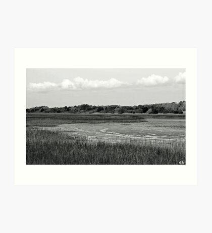 """Marsh"" Low Tide Art Print"