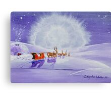 Santa and the Igloo Canvas Print