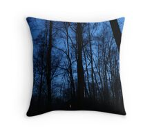 Night Sky and Fairy Lights Throw Pillow