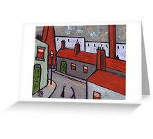 Industrial Town  Greeting Card