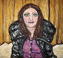 """""""Self Portrait on Oaklands Stage"""" by Adela Camille Sutton"""