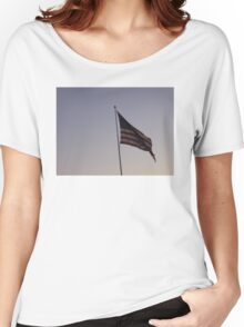 Patriotic American Flag Women's Relaxed Fit T-Shirt