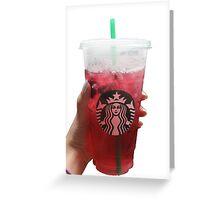 starbucks drink Greeting Card