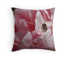Tulip and the Bee Throw Pillow