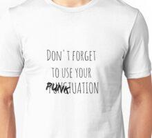 PUNKtuation Text  Unisex T-Shirt