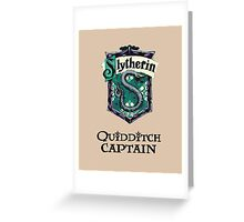 Slytherin Quidditch Captain Greeting Card