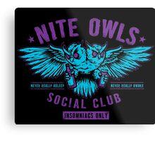 Nite Owls Social Club Metal Print