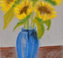 Sunflowers blue by CKay Walker