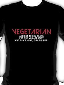 Vegetarian Ancient Tribal Slang T-Shirt