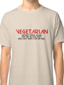 Vegetarian Ancient Tribal Slang Classic T-Shirt