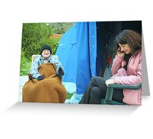 Dad and daugther Greeting Card