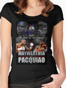 Pacquiao vs Mayweather Women's Fitted Scoop T-Shirt