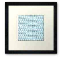 Light blue arrows Framed Print