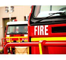 Fire Rescue Photographic Print
