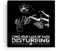 Darth Vader - Lack of Faith Canvas Print