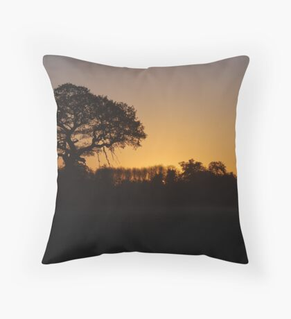 Dawn Silhouette Throw Pillow