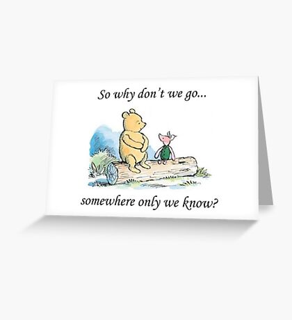 """Keane """"Somewhere Only We Know"""" Greeting Card"""