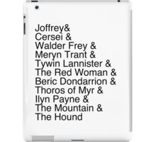 Arya's Kill List iPad Case/Skin