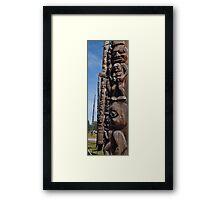 Totem Pole Alley Framed Print