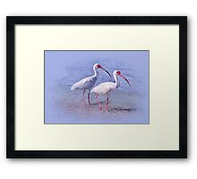 Shore Walkers Framed Print