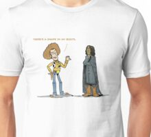 Toy Story Woody -  There's A Snap in My Boots Unisex T-Shirt