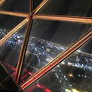 A view from the flying saucer... by Hélène David-Cuny