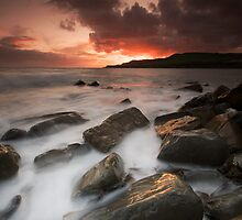 Fiery Sky Milky Sea by stephen foote