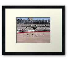 Bullfight in Arles Framed Print