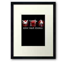 Know Your Cranes - Martial Arts Framed Print