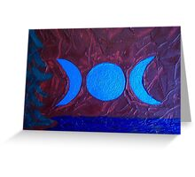 Triple Moon Landscape by Holly Cannell Greeting Card